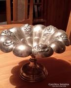 Ezüst kínáló, asztalközép