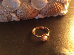14K arany gyűrű gyönggyel