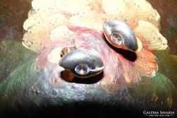 Ezüst fülbevaló cirkon kővel