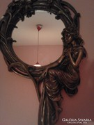Szecessziós szobor tükör 30cm * 47cm
