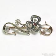 Antik 14k Arany Bross c 1.50 ct Gyémánttal