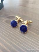 Régi arany színű mandzsetta lápisz lazulival
