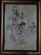 Zórád Ernő eredeti festménye!