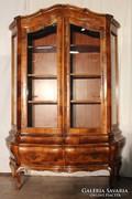 Gyönyörű régi neobarokk tálalószekrény,vitrin !