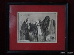 Honoré Daumier(1808-1879) saját kezű aláírásával!