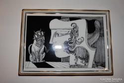 Hollóházi porcelán Szász Endre