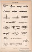 Csomók 1894, Pallas nyomat, antik, eredeti