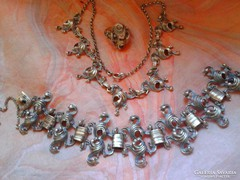 Antik ezüst ékszer szett BAS/ Graz