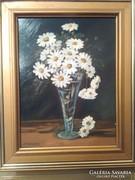 Margarétás virágcsendélet