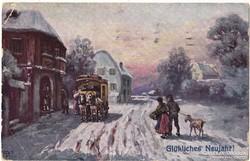 Újévi Német képeslap 1916