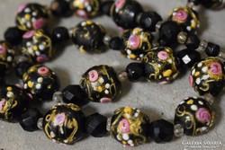 Antik muranoi nyaklánc - Fiorato/velencei arany mintás