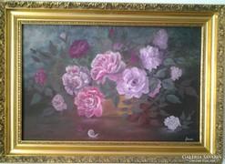 Rózsák c. festmény , csendélet