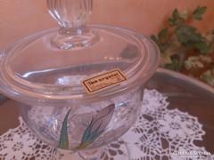 Antik jelzett üvegkristály bonbonier