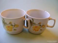 Zsolnay 2 db-os rózsás csésze, bögre