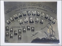 Nagyváradi M.ki. áll. Gépipari középiskola tabló 1943  Szabó