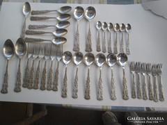 Antik Silver  ezüst evőeszköz készlet  34 db-os, 1407 gramm
