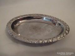 Milanói ezüstözött kis mini tál.
