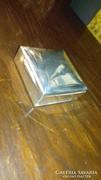 Ezüst dobozka fa betéttel