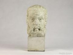 0K097 Ismeretlen Görög férfi gipsz fej szobor
