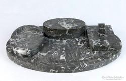 0K100 Régi márvány íróasztali kellék kalamáris