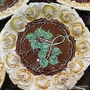 Régi majolika tortatál, süteményes