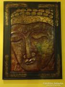 Nagyméretű, igényes Buddha kép