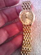Tiffany 24 karátos aranyozott női quartz ékszer óra
