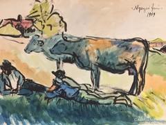 Nyergesi János Akvarell