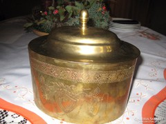 Réz doboz  17x 13 x 15 cm