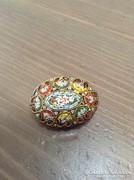 Régi muránói üveg mozaik bross