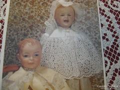 Antik babák-postatsizta képeslapon