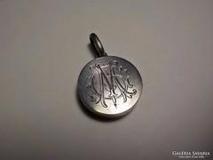Antik fényképtartós ezüstmedál