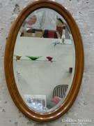 Angol art deco ovális fali tükör