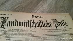 Landwirtschaftliche Prelle Zeitung Berlin 1921- kötve