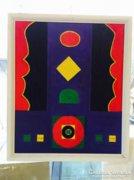 Festmény,Szántó Sándor:Jelek I., original abstract painting