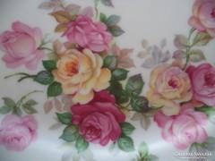 Bavaria süteményes tál, csodaszép rózsákkal