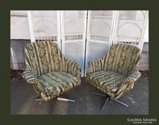 Retro forgó fotel,szép kárpittal