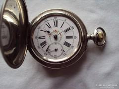 Ancre 15 köves antik ezüst zsebóra( 54 mm )