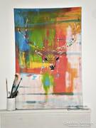 Akció-Deer-60x90cm