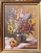   Virágcsendélet olajfestmény olaj festmény
