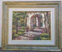   Római Kert olajfestmény olaj festmény