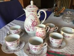 Volkstedt Pastorale porcelán, teás, 5 személyes