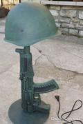 Industrial ipari lámpa Vintage veterán katonai dekoráció 220