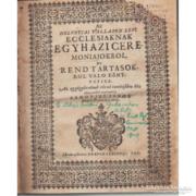 Agenda; Az helvetiai vallason levö ecclesiaknak egyh..(1636)