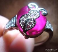 925 ezüst gyűrű, 18,5/58 mm, bixbittel