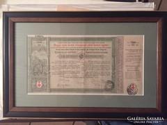 Papírrégiség  -134 éves ! 1882-ből kötvény