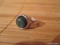 Labradorit köves izraeli ezüst gyűrű