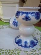 Porcelán kóbalt kék gyertyatartópár
