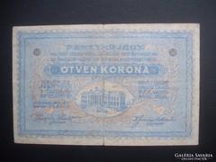 Szeged 50 korona pénztárjegy 1918 I. kiadás RR !!!