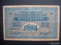 Szeged 50 korona pénztárjegy 1918 II. kiadás RR !!!